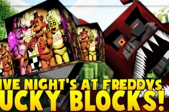 FIVE NIGHTS AT FREDDY'S LUCKY BLOCK MOD CHALLENGE (FNAF World)